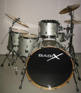 Basix Custom Vintage Rock Set, Silver sparkle